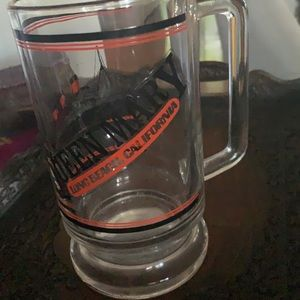 Queen Mary Long Beach glass mug